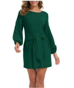 Front Knot Sweater Dress