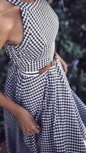 The Checked Printed skirt
